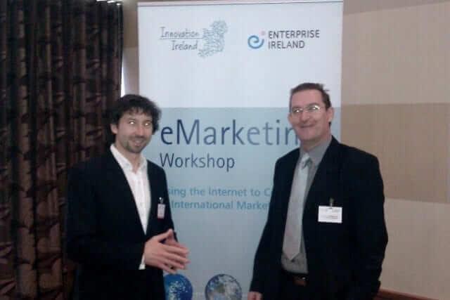 Ed Field meets Damian Scattergood, Enterprise Ireland's e-marketing workshop