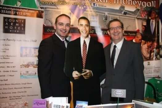Ollie Hayes, Barack Obama and Damian Scattergood