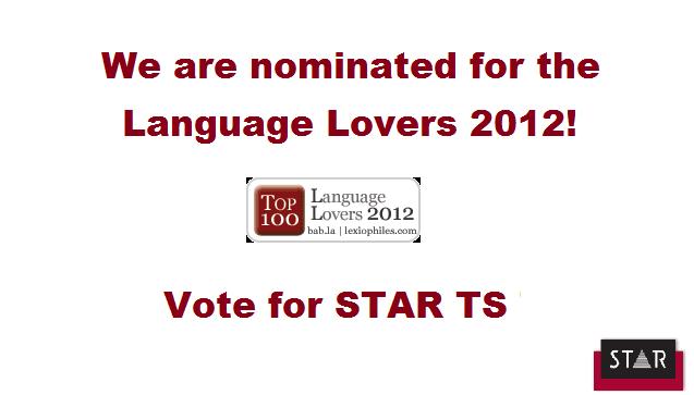 Language Lovers 2012 nominee — STAR Translation