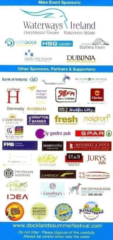 Docklands Summer Festival sponsors