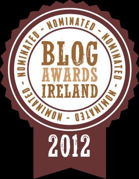 Blog Awards Ireland 2012, nominated
