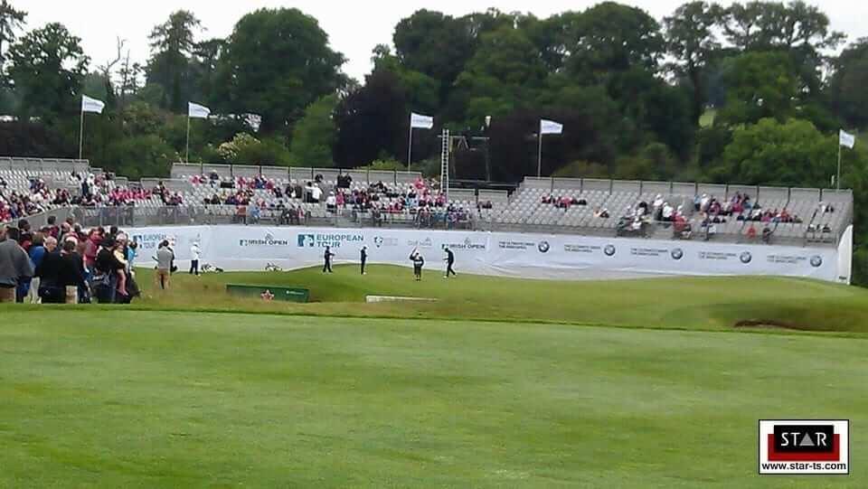 17th hole at the Irish Golf Open