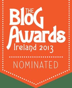 Blog Awards Ireland 2013, nomination 2013
