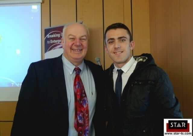Bobby Kerr with Keith McManus, think positive in business