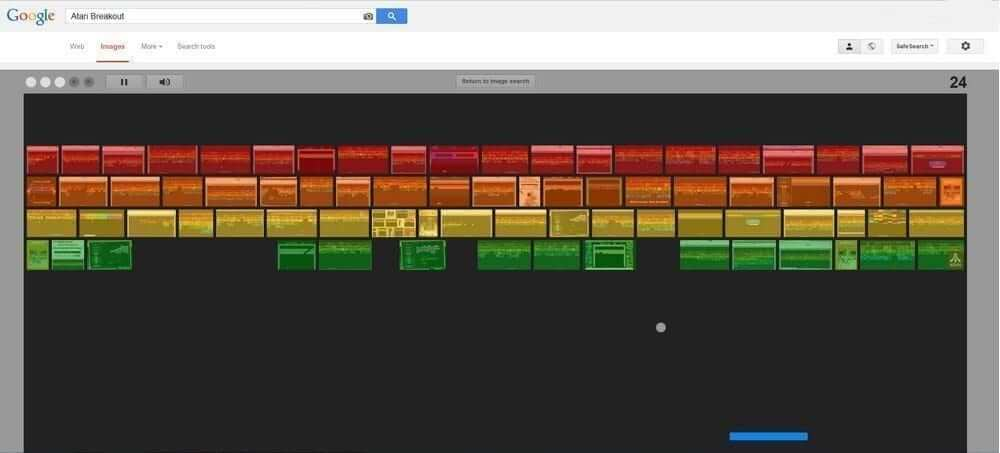 Atari Breakout, Google trick