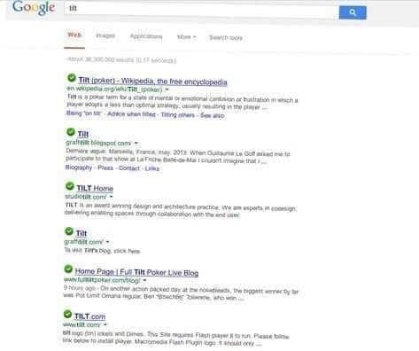 Tilt, Google Chrome's hidden Easter Egg tricks
