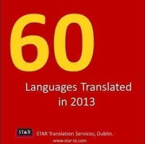 Languages translated, STAR by numbers 2013