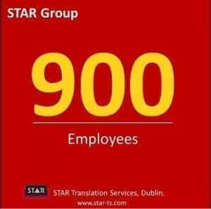 Translation employees, STAR by numbers 2013