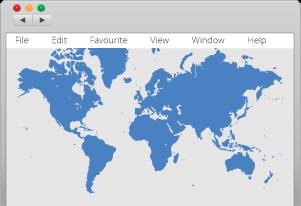 Website translation services, web browser