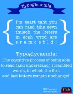 Typoglycaemia