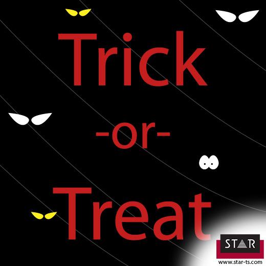 Halloween, trick or treat!
