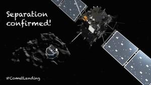 Separation of Philae Lander from Rosetta Spacecraft