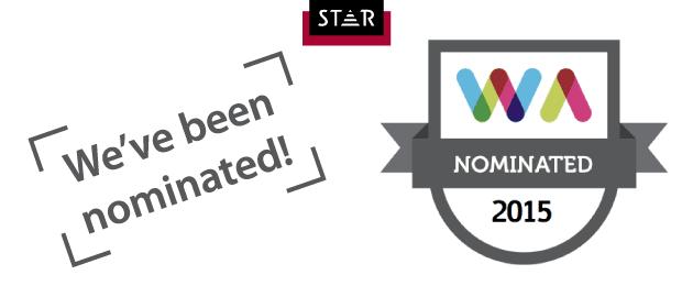 Web Awards 2015, we've been nominated