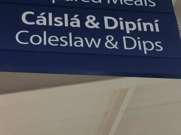 Coleslaw and dips, Irish language translations