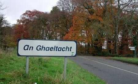 Gaeltacht sign in An Ghaeltacht